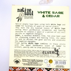 Betisoare parfumate Green Tree White Sage and Cedar colectia Native Soul