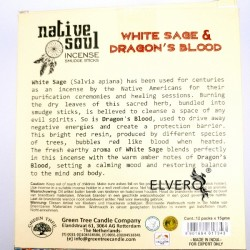 Betisoare parfumate White Sage and Dragon's Blood, Native Soul