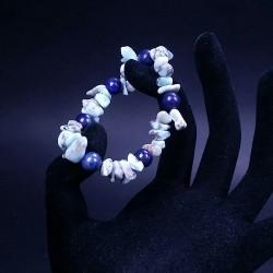 Bratara elastica cu lapis lazuli si larimar