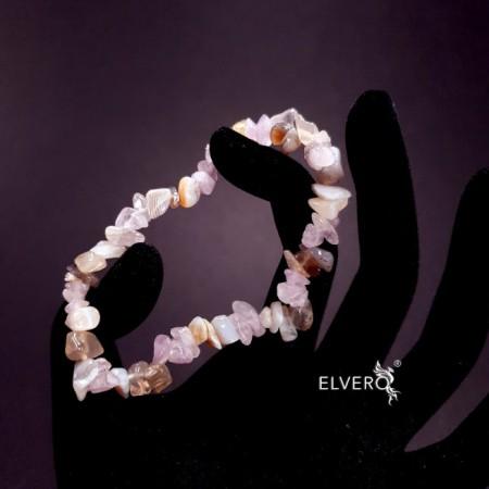 Bratara elastica agat de botswana si ametist - Înțelepciunea păcii interioare
