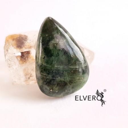 Crom diopsid cabochon, piatră semiprețioasă