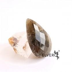 Labradorit cabochon fațetat, piatră semiprețioasă