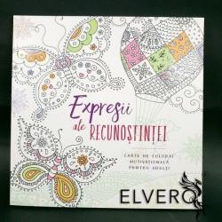 Expresii ale recunostintei, carte de colorat motivationala pentru copiii si adulti