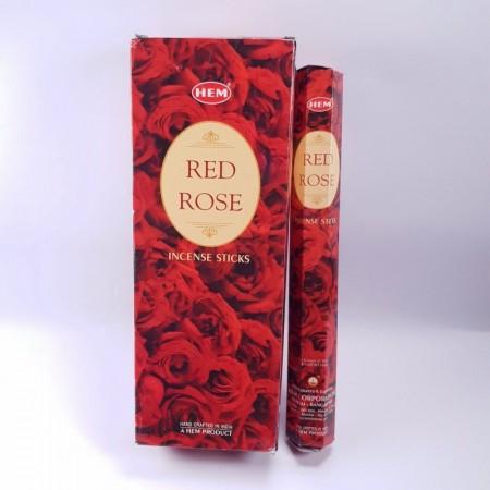 Betisoare parfumate HEM Red Rose, 20 buc