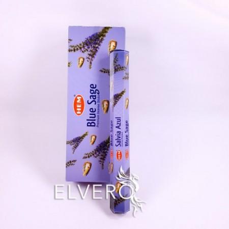 Bețișoare parfumate Salvie Albastră, HEM, 20 buc, Blue Sage