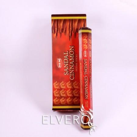 Bețișoare parfumate Sandal Cinnamon, HEM, 20 buc