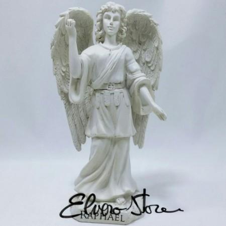 Arhanghelul Rafael, ingerul vindecator, statueta ceramica