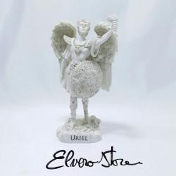 Arhanghelul Uriel, ingerul intelepciunii, statueta ceramica