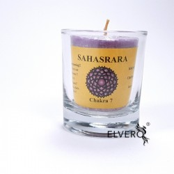Lumanare uleiuri esențiale chakra Sahasrara, chakra coroana, a spiritualitatii, mică