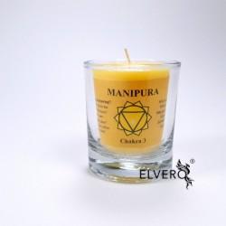 Lumanare uleiuri esențiale chakra Manipura, mica, pentru chakra a treia, a plexului solar, chakra vointei