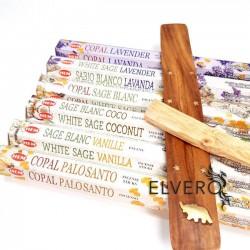 Pachet betisoare parfumate HEM, palo santo si suport din lemn