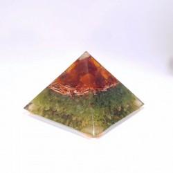 Piramida Succesului - chihlimbar, cuart rutilat, peridot