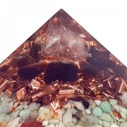 Piramidă orgonică cu chihlimbar şi crisopraz