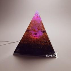 Piramida luminoasa cu selenit si aur 24K