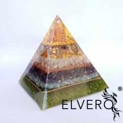 Piramida abundentei - Piramida orgonica cu aur 24K, argint, bagheta de cuart