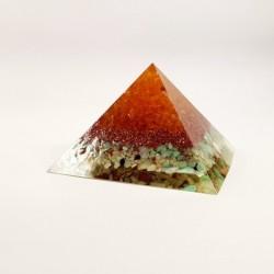 Piramida orgon, citrin, crisopraz, cupru si rasina