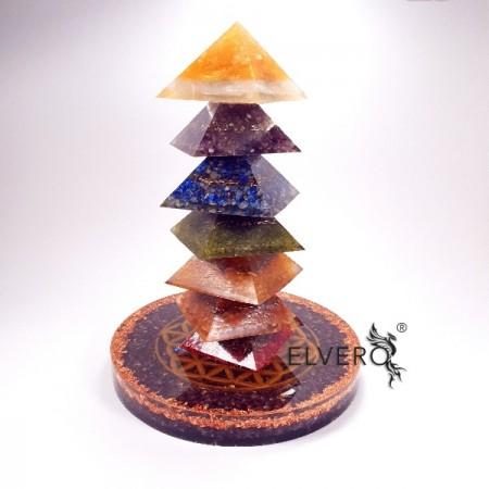 Piramidele chakrelor, ansamblu orgonic cu Floarea Vietii