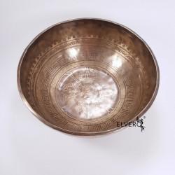 Bol tibetan 32 cm, gravat manual