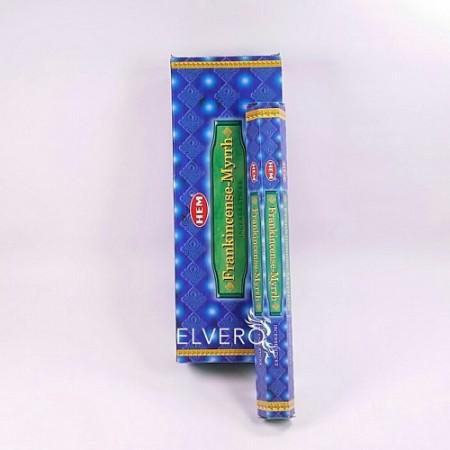 Bețișoare parfumate Frankincense-Myrrh, HEM, 20 buc
