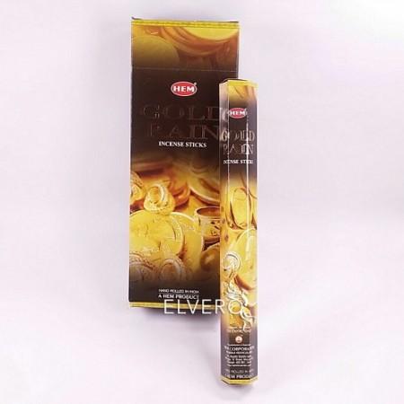 Bețișoare parfumate Gold Rain, HEM, 20 buc