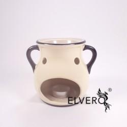 Candela ceramica pentru aromaterapie cu uleiuri esentiale, volatile