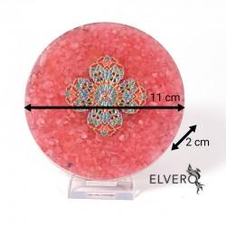 Disc orgonic cuart roz cu mandala. Echilibru emotional