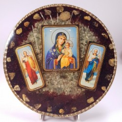 Icoana cu Maica si Pruncul insotiti de arhanghelii Mihail si Gabriel
