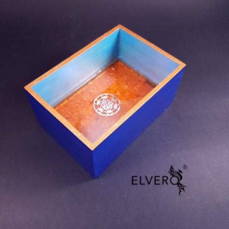 Tavă orgonică Cubul lui Metatron cu pietre semiprețioase