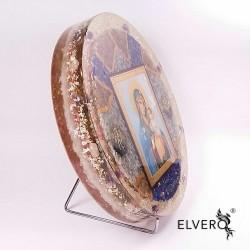 Fereastră către Divinitate, Icoană mare cu Maica si pruncul străjuiți de arhanghelul Mihail, 26 cm