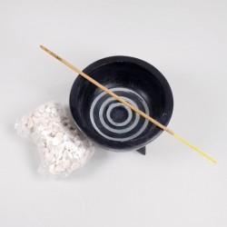 Candelă universală pentru fumigații cu bețișoare parfumate, tămâie, salvie, palo santo, conuri